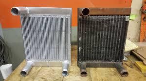 kenworth truck repair kenworth t800b blasting truck heat exchanger cleaning repair