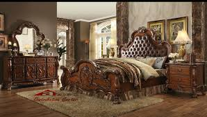 Bedroom Furniture Cherry Wood by Acme Dresden Cherry Bedroom Set Houston Texas Bellagio Furniture