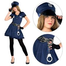 teen girls police officer cop cutie book week fancy dress party