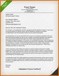 janitor cover letter janitor and maintenance cover letter samples