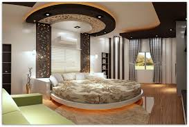 Master Bedroom Wall Paneling Bedroom Furniture Decorative Floral Round Bed Gray Curtain White