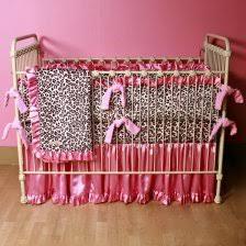 Pink Cheetah Crib Bedding Cheetah Pink And Brown Baby Bedding By Sweet Jojo Designs