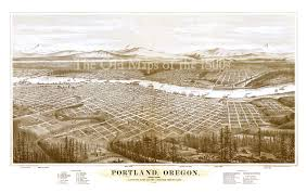 Map Portland Or by Portland Oregon In 1879 Bird U0027s Eye View Map Aerial Map