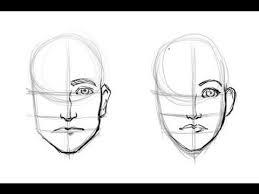drawing the difference men u0027s and woman u0027s faces youtube