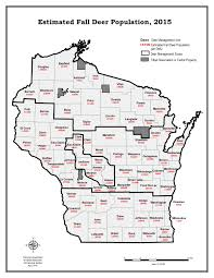 Wisconsin Counties Map by Deer Abundance And Density Maps Wisconsin Dnr