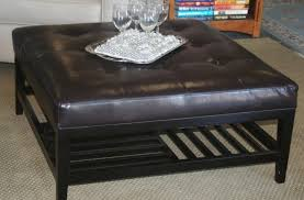 4 tray top storage ottoman leather coffee tables coffee magnificent black tufted leather
