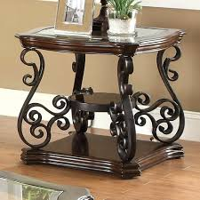 wrought iron end tables end tables with glass top s patio dining wrought iron console side