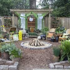 backyard landscaping cheap fire pit ideas garden the most