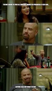 Meme John Travolta - skinhead john travolta