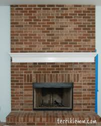 Whitewashing A Fireplace by The Great Fireplace Redecorating Project Terriklemm Com