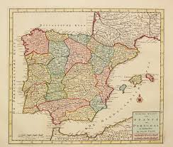 Portugal Spain Map by Antiquemaps Fair Map View Rare Old Antique Map Of Spain