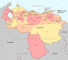 Map Of Venezuela Venezuela Political Map