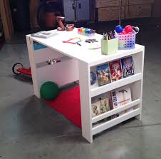 ana white build a kids storage leg desk free and easy diy