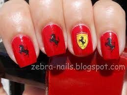 kkcenterhk blog ferrari nails by zebra nails