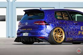 volkswagen gti custom two rocket bunny golf gti customs start in vossen photo shoot