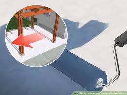 Painting Concrete Patio Slab How To Paint An Outdoor Concrete Patio With Pictures Wikihow