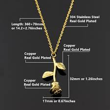 plated rose gold necklace images V attract bijoux femme collier gold plated rose flower necklace jpg