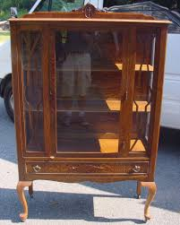 antique oak china closet hausslers kitchens cabinet refinishing