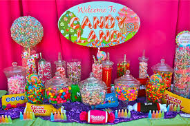 Candy Tables Ideas Discount Halloween Decorations Props Candyland Candy Buffet Ideas