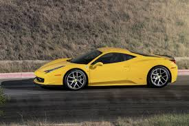 gold ferrari 458 italia a light aero and wheel package for ferrari 458 from vorsteiner w