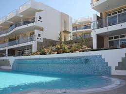 beautiful luxury apartment with shared pool sea 428438 makry gialos apartment rental view of apartment from the pool