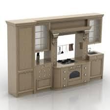3d model kitchen category kitchen classic white interior