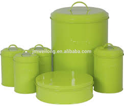 round bread bin and canister set with cake box in green buy
