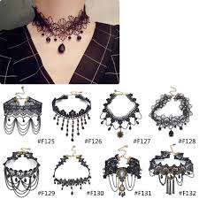 choker collar necklace vintage images Lychee gothic victorian crystal tassel tattoo choker necklace jpg