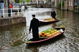 cheese delivery on the canals picture of cheese market alkmaar