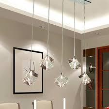 Living Room Pendant Lights T Transparent Crystal Led Dining Room Bar Pendant Light Modern