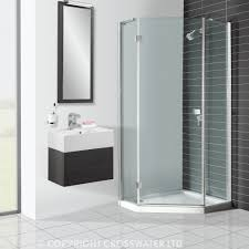 Shower Tray And Door by Bathroom Elegant Curved Glass Shower Door With Merola Tile Wall