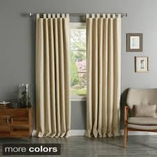 Overstock Drapes Brown Tab Top Curtains U0026 Drapes Shop The Best Deals For Nov