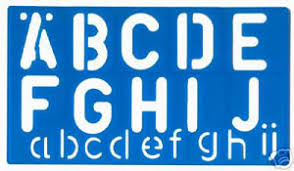 50mm large letters stencil template with alphabet and numbers