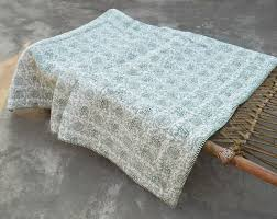 Gold Quilted Bedspread Green Quilted Bedspread Floral Print Cotton Quilt Discovered