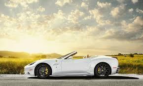 Ferrari California In White - ferrari california white profile ferrari white the field sun sky