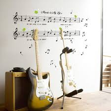 removable listen music notes wall sticker vinyl decal home decor getsubject aeproduct