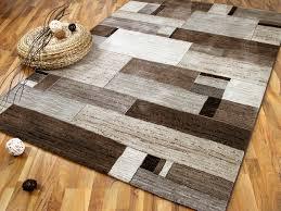 designer teppich venezia luxus designer teppich felderoptik beige braun teppiche
