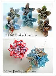 Paper Craft Steps - to fold beautiful kusudama paper flower balls