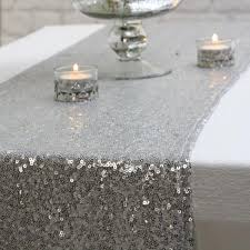 grey table runner wedding silver sequin table runner 2 75m the wedding of my dreams