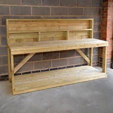 Woodworking Bench Plans Uk by Wooden Work Bench Home Furniture U0026 Diy Ebay