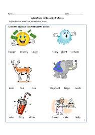 adjective worksheets grade 1 adjective worksheet for grade 1 adjectives for grade and