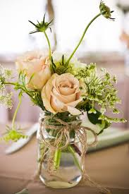 jar flower centerpieces jar flower centerpieces casual at home wedding reception