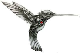 black and white hummingbird tattoo military clipart just free