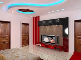 bedroom home decor design pop ceiling with led light tv rooms