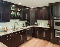 Dark Brown Kitchen Cabinets Prissy Design  Moon White Granite - Brown cabinets kitchen