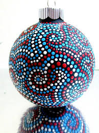 glass ornament painted puntillismo ornament