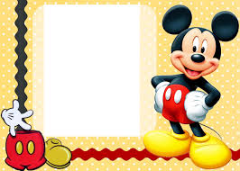 2nd Birthday Invitation Card Mickey Mouse Clubhouse Invitation Template Free Download