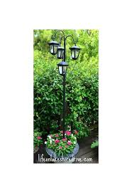 Outdoor Electric Post Lights by Easy Diy Solar Lights Lamp Post With Flower Planter Hometalk