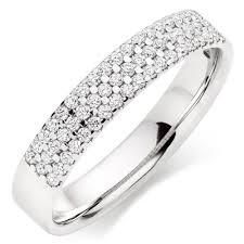 ladies rings jewellery images 18ct white gold diamond three row ladies wedding ring 0010652