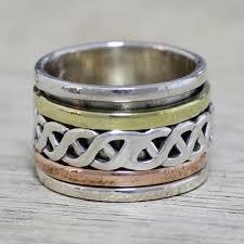 eclectic lion ring holder images Sterling silver meditation spinner rings at novica jpg